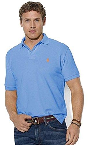 Ralph Lauren Herren Kurzarm Polo - Classic Fit - Solid Mesh (S, Weiß / White (Navy Logo)) (Mesh-kurzarm-polo-shirt)