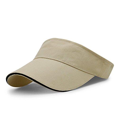 LAOWWO Visera Sombrero para el Sol - Sombreros Running Golf Tennis Deporte  con Ajustable Velcro para 744ff5fca66