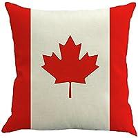 Decorativa almohada Bandera de impresión Impreso Sofá Decoración Cojín Caso agarre Bar Funda de almohada cojín de móvil Salón rojo/blanco (Canadá)