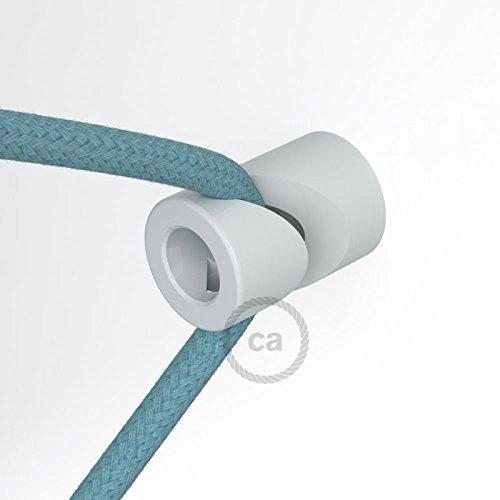 Decentratore, gancio a ?V? a soffitto o parete bianco universale per cavo elettrico (Soffitto Cavo)