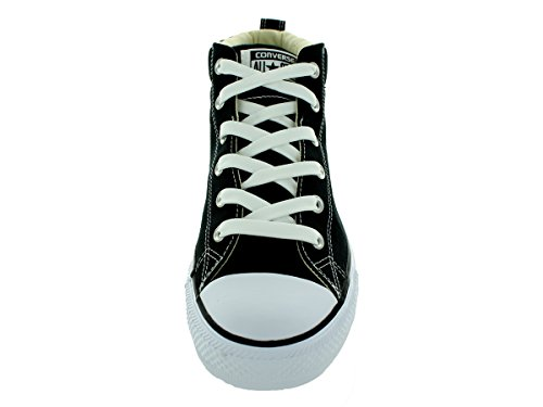 Converse Womens Chuck Taylor Street Mid Textile Trainers Noir