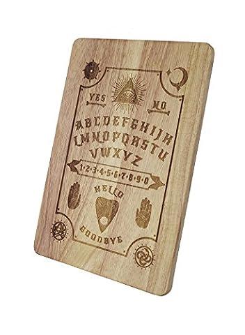 Ouija Board véritable Darkside gravé à découper en bois Planche de service Small 30x20x1.5cm marron