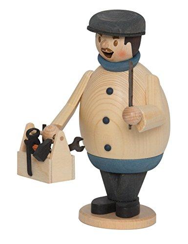 Kuhnert Drechslerei Rauchmann, Räucherfigur Max aus Holz - Verschiedene Szenen - Made in Germany (Klempner) -