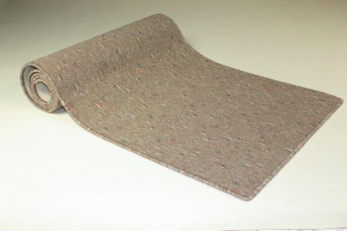 Teppichläufer Maya beige Teppich Brücke Läufer Flur Meterware 50 cm breit robust und trendy 50x100 cm