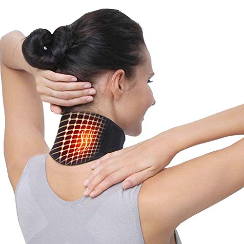 ck Support Massager Electric Motor self-Heating Neckband Protection Spontaneous Tropical Body Massager 1 Piece Suitable for Men and Women to Relieve Neck Pain ()