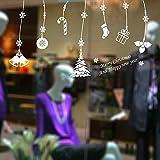 WL Wandaufkleber Weihnachten Wandaufkleber Anhänger Kunst Aufkleber Szene Dekorieren Wandmalereien Fenster Aufkleber Schaufenster Shop Statische PVC Aufkleber 58 * 55 cm Weiß