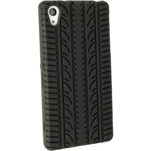 iGadgitz U2906 Silikon-Schutzhülle für Sony Xperia Z2 D6503, Cover mit Folie - Schwarz