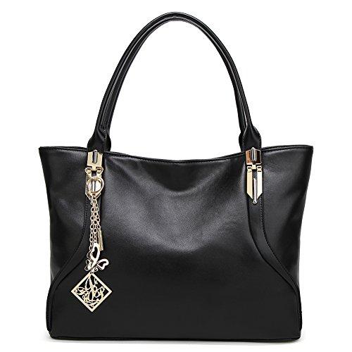DALFR Damen Handtasche aus veganem PU-Leder mit Tragegriff oben