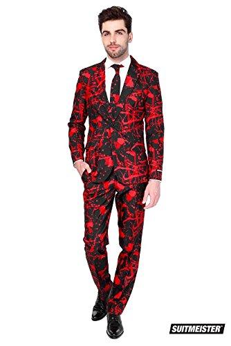 Herren 'Halloween schwarz blut' Party Anzug Und Krawatte von SuitMeister, - Halloween Opposuits
