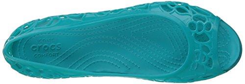 crocs Damen Isabellajlyfltw Geschlossene Ballerinas Grün (Turquoise)
