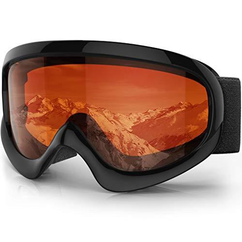 Maschera sci bambino - findway occhiali sci maschera da sci bambino specchio occhiali da sci otg per ragazzo ragazza anti uv anti nebbia compatibile con casco per sci snowboard altri sport invernali