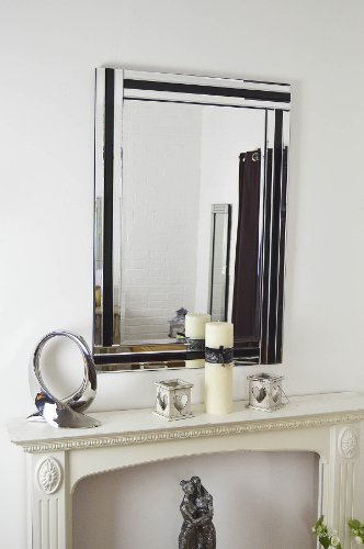 MirrorOutlet Espejo de Pared Triple Biselado