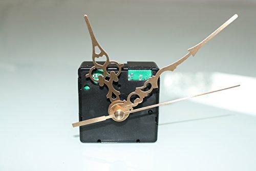 UTS Funkuhrwerk für Ziffernblatt 1-4mm mit Zeigersatz Metall gold klassisch