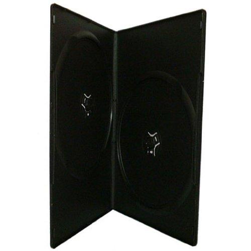 Four Square Media - Custodia DVD slim doppia con base nera, 7 mm, confezione da 25