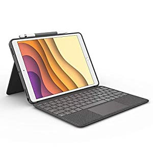 Logitech Combo Touch for iPad Air (3rd generation) and iPad Pro 10.5-inch keyboard case with a trackpad, wireless keyboard and Smart Connector technology – Graphite