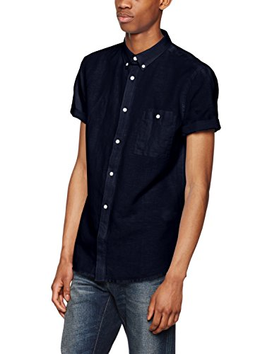 French Connection Summer Soft, Chemise Casual Homme Bleu (Bleu marine)