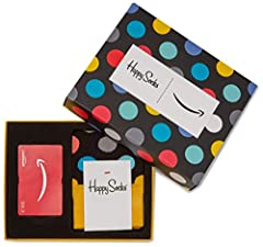 Idea Regalo - Buono Regalo Amazon.it in un Cofanetto con calzini Happy Socks (Taglia Unica)