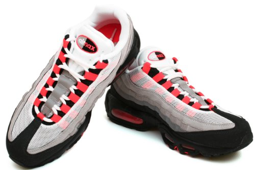 Nike Air Max 95 – Chaussures Sportives, homme white, solar red-neutral grey
