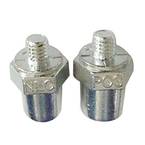 Sharplace 2 Pezzi Positivo Negativo Batteria Per Auto Terminal Morsetto Connettore Clip D'argento