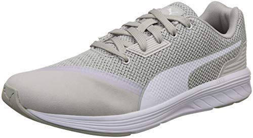 9. Puma Unisex's Gray Violet White Running Shoes