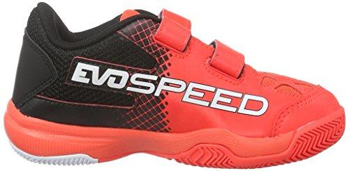 Puma - Evospeed Indoor 5.5 V Jr, Scarpe fitness Unisex – Bambini Rosso (Rot (Red blast-White-Black 01))
