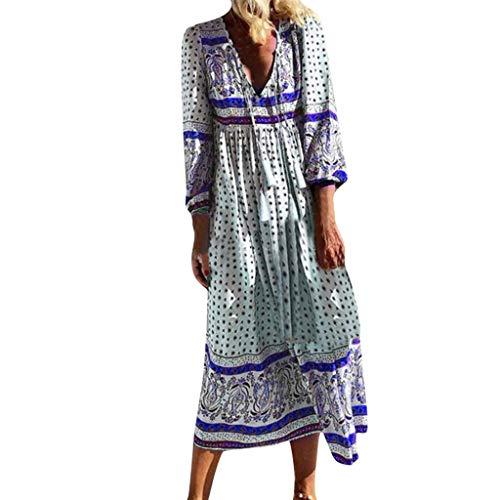 TEFIIR T-Shirt für Damen, Oktoberfest, Leistungsverhältnis Beiläufige Plus Größen-Tägliche V-Ansatz-Blumen Gedrucktes Feiertags-Langes Kleid Geeignet für Freizeit, Dating, - Kleid Ups Piraten Kostüm