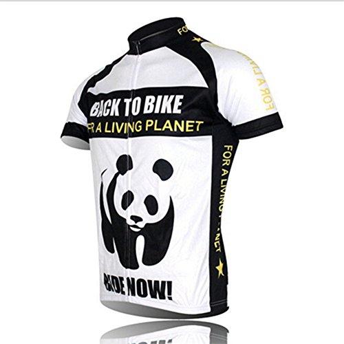 Shenshan Cycling Jersey Herren Mountainbike-Hemden Kurzarm Sports XXX-Large Panda Blanc (Mountainbike-körper)