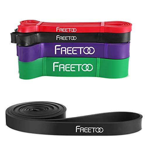 Ebene Widerstand Bands (FREETOO Resistance Band Fitnessbänder professionelle Latex Widerstand Bänder Pull-Up Bänder Klimmzughilfe (E))