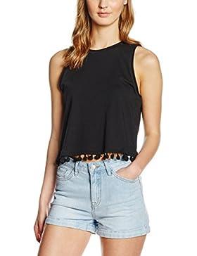 New Look Tassell Hem Shell, Camiseta sin Mangas para Mujer