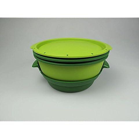 Tupperware 101° MicroGourmet - Juego de recipientes para cocinar al vapor en el microondas, varios