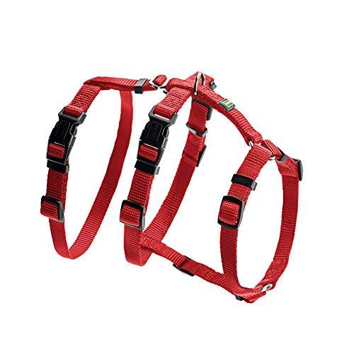HUNTER VARIO RAPID Panikgeschirr für Hunde, Sicherheitsgeschirr, ausbruchsicher, Angsthunde, Nylon, S, rot