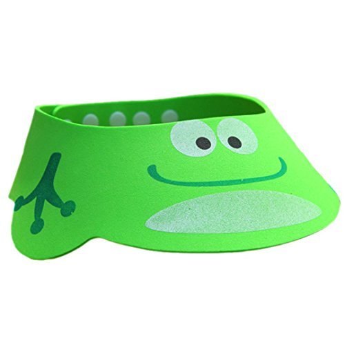 Kingko® Catoon Bath Visor Baby Wash Hair Shield Cap Sun Visor Child Kid Safe Shampoo Shower Bathing Protect Soft Hat (Frog)