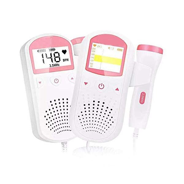 Home Use Baby Listen Sound BPM and Baby FHR Monitor Device NNC Portable home use BABY MONITOR DEVICE TO HEAR BABY SOUND Recommended TO USE WITH GEL ( NOT INCLUDED) Have headphone option to attach headphones and hear baby sound clearly 1