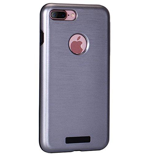 "iPhone 7Plus Schutzhülle, [Tough Armor] CLTPY iPhone 7Plus Handycase Ultra Hybrid PC & Silikon Abdeckung mit Flip [Kickstand] & Kartenschlitz, Schwarz Rüstung Harter Fall für 5.5"" Apple iPhone 7Plus ( Grau A"