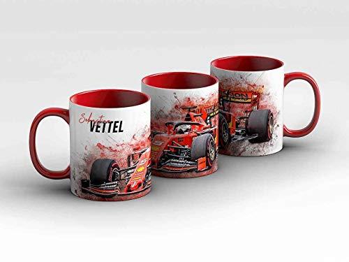 gasoline.gallery Formel 1 Tasse - Sebastian Vettel - Scuderia Ferrari Mission Winnow rot Kaffeebecher