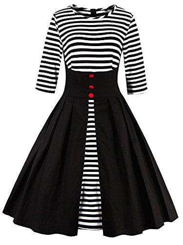 Vintage Kleid Elegant Abendkleider Cocktailkleid festlich Partykleid Ballkleid Rockabilly 50s retro Damen Gr.S-5XL