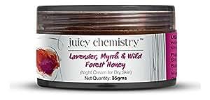 Juicy Chemistry Lavender, Myrrh and Wild Forest Honey Night Cream, 35 g (For Dry Skin Only)