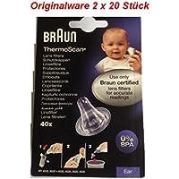 Braun T1010/2020 Ersatzschutzkappen für Braun Thermoscan Thermometer, 100 Stück