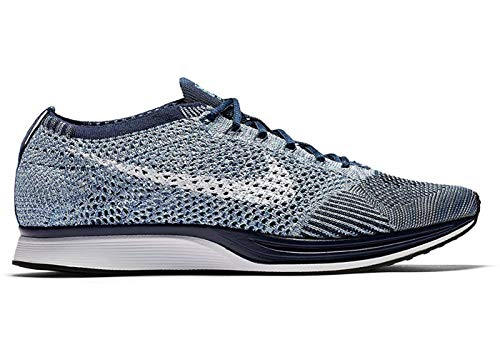 Nike-pc (NIKE Flyknit Racer Mens Running Trainers 862713 Sneakers Shoes (UK 6.5 US 7.5 EU 40.5, Blue Tint White 401))