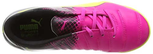 Puma EvoPower 4.3 Tricks TT Scarpe da Calcio Bambino Pink Glo/Safety Yellow/Black