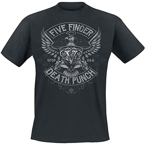 Five Finger Death Punch Howe Eagle Crest T-Shirt schwarz M -