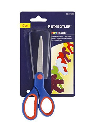 Imagen principal de Staedtler Noris Club 96517NBK - Tijeras para niños (17 cm, mango ergonómico, acero inoxidable)