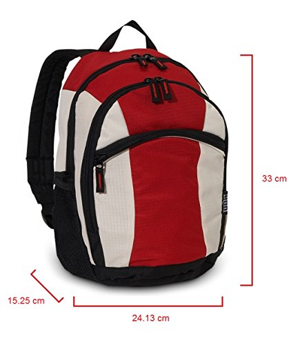 Everest Deluxe Small zaino, Red (rosso) - 7045S-RD/BEI/BK Red