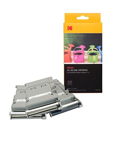 Kodak-Mini Fotodrucker-Patrone-PMC, ALLES-IN-EINEM Papier- und Farbtinten-Nachfüllpack - 30 Blätter.