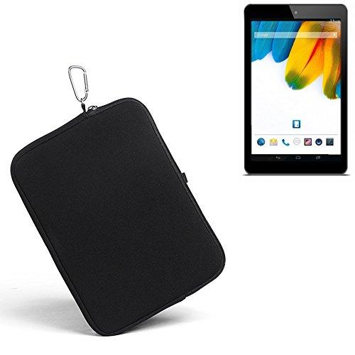 K-S-Trade® für odys Connect 7 Pro Neopren Hülle Schutzhülle Neoprenhülle Tablethülle Tabletcase Tablet Schutz Gürtel Tasche Case Sleeve Business schwarz für odys Connect 7 Pro