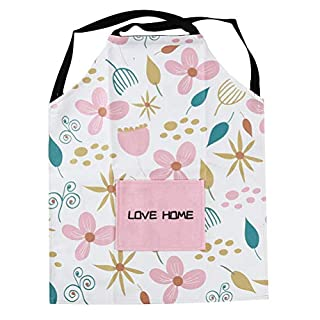 JIFNCR Unisex Apron with Pocket Cartoon Cute Pattern Waterproof Oil Proof Apron for Kitchen Baking Restaurant Chef Cooking Haus Cleaning Home Supplies Kitchen Accessories,2#