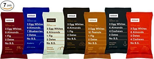 RxBar Protein Bar 7 Pack - Minimal Ingredients That Are All 100% Real Food w/ No Processed Fillers (Variety) by RXBAR (Butter Food Peanut Bar)