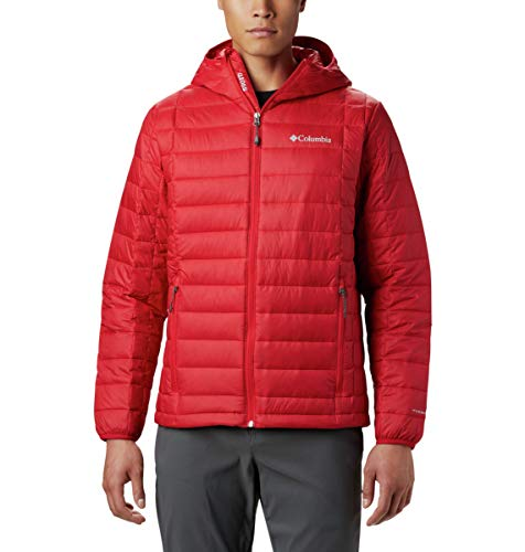 Columbia Men's Voodoo Falls 590 TurboDown Hooded Jacket, Mountain Red, XX-Large (550 Fill Down Jacket)