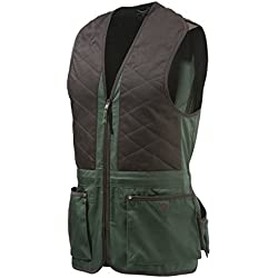 Beretta Universal Trap Cotton - Chaleco para Hombre, Multicolor (Verde/Marrón), M