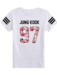 SERAPHY Camiseta Unisex KPOP BTS Camiseta Estampada Bangtan Boys BTS Young Forever Bloom Floral Suga Jin